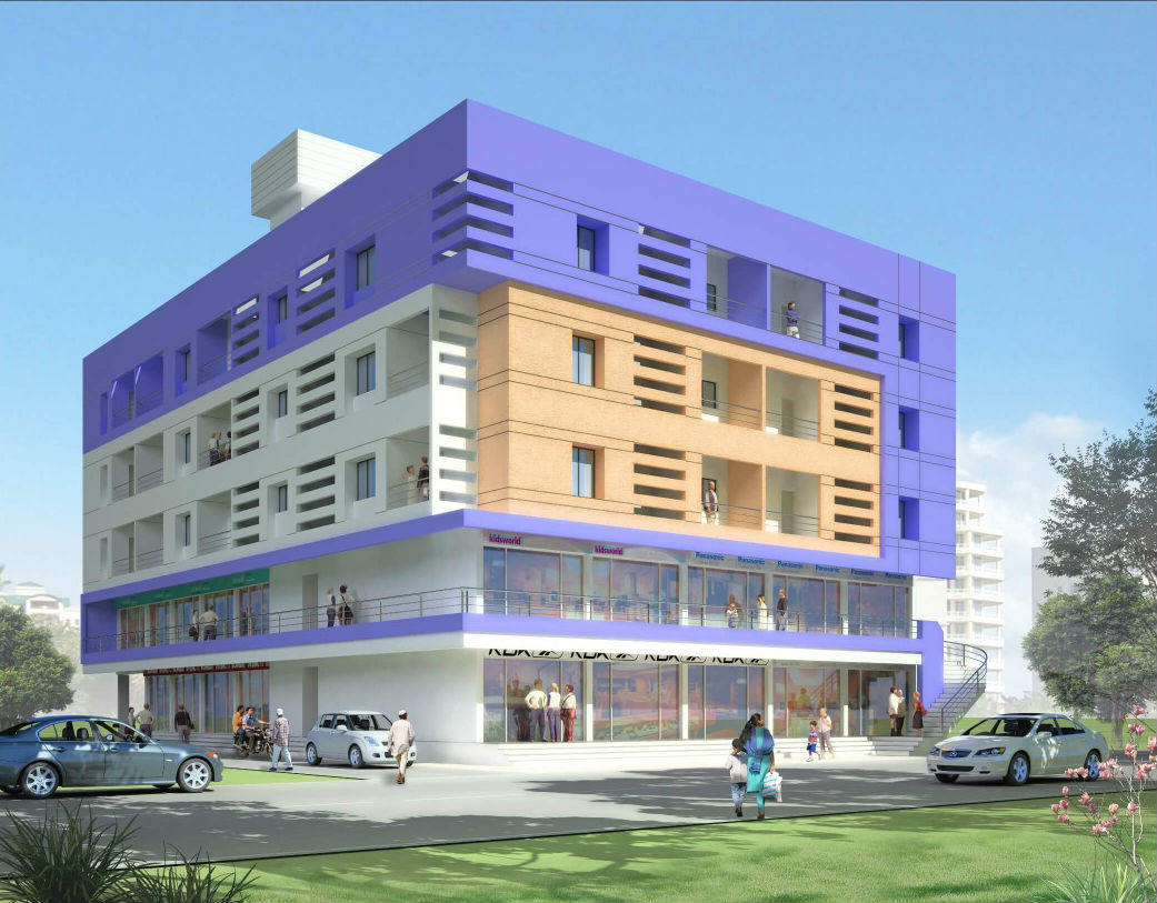 Commercial & residential building at Aale phata