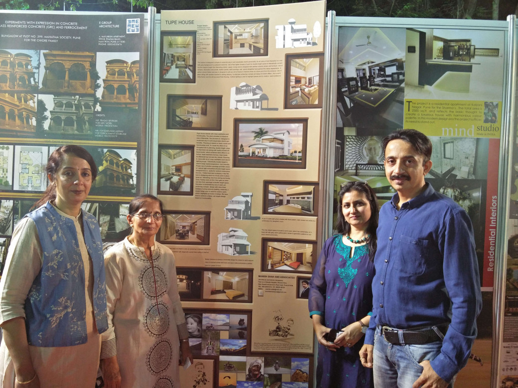With Guests at Exhibition