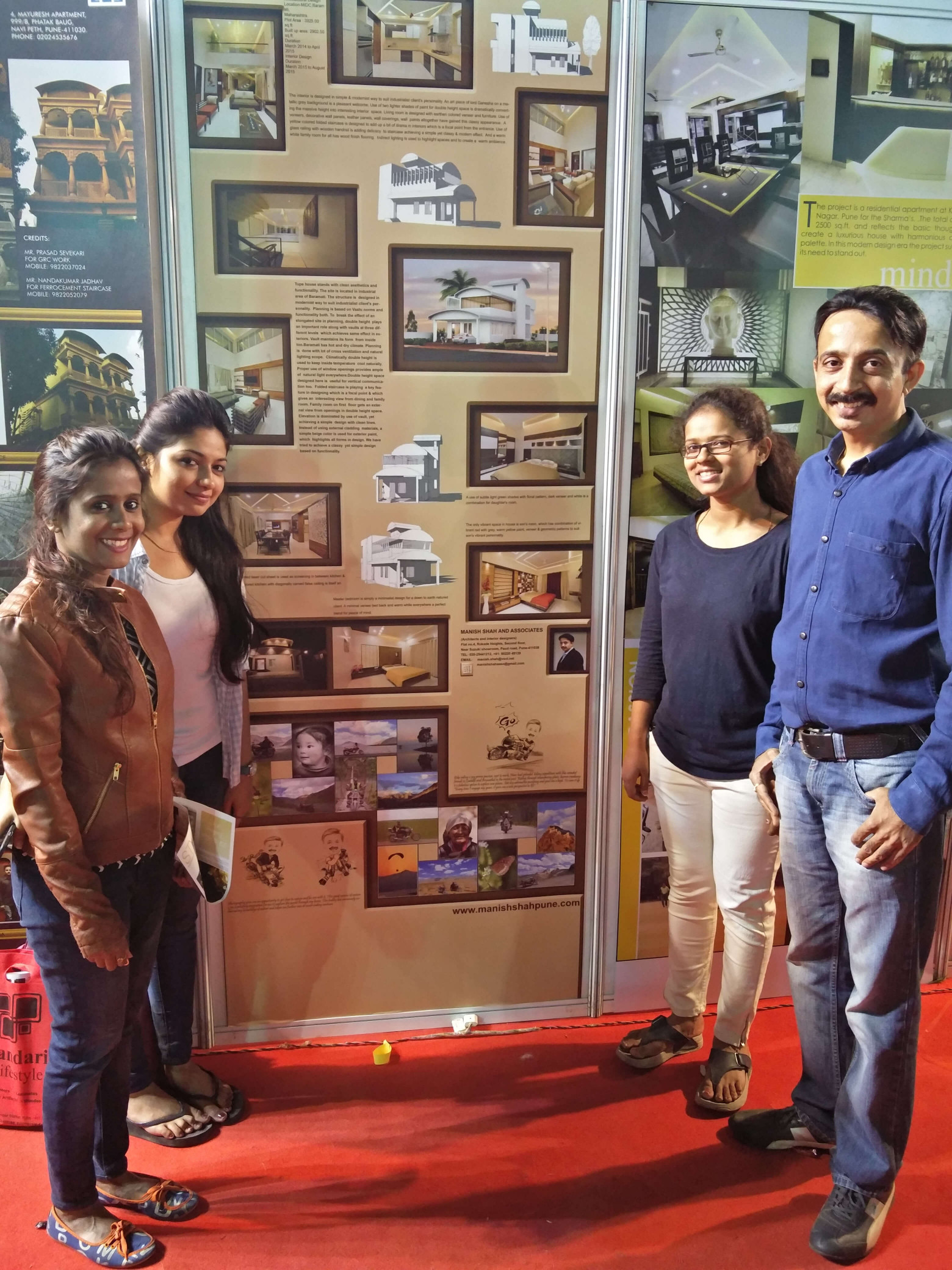 With Office Staff at Exhibition